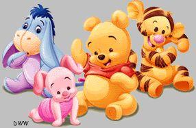 Pooh, Piglet, Eeyore, and Tigger - Winnie the Pooh