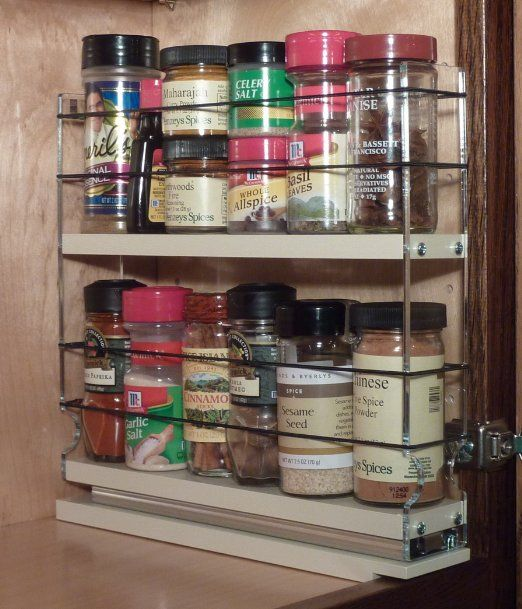 Vertical Spice - DC - Spice Rack Narrow Space - 12 Capacity - Drawer  Access: Spice Racks For Cabinets: