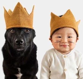2015 новый корона шляпы для мальчиков и девочек корона шляпы для ребенка новорожденного фотографии реквизит принц корона хлопок шляпы для ребенка