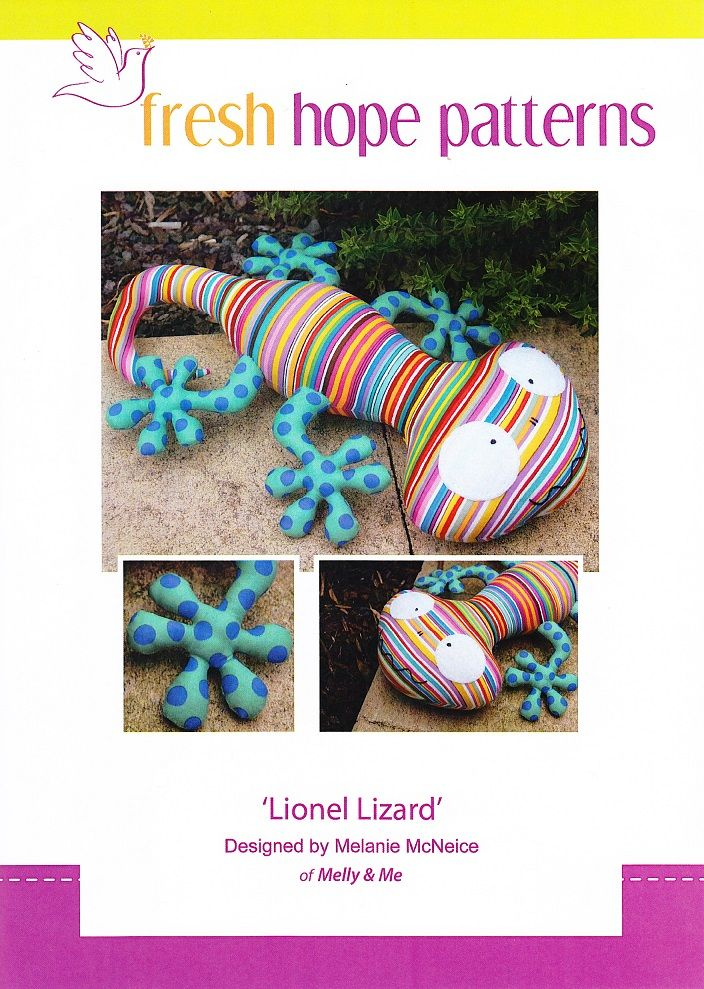 Lionel Lizard designed by Melly & Me