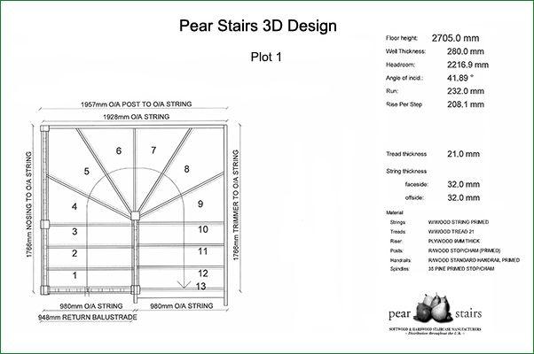 Pershore Staircase - staircase design.