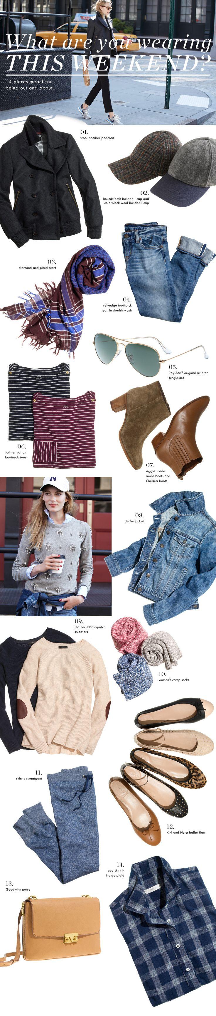 J.Crew Casual + Chic Weekend Style | boyfriend jeans + baseball caps