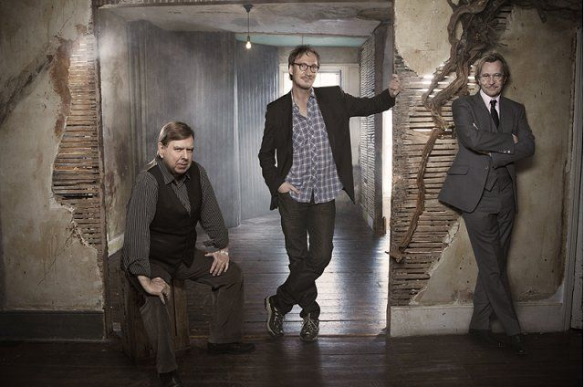 Messrs. Moony, Wormtail & Padfoot aka Timothy Spall, David Thewlis and Gary Oldman - Empire magazine Harry Potter celebration cast photo shoot outtakes & candids