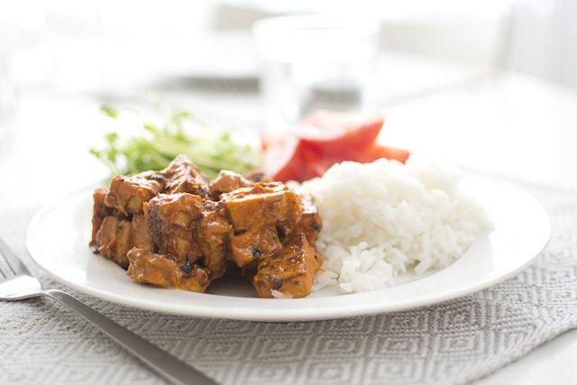 Vegetarisk stroganoff med tofu