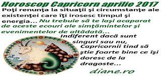 Horoscopul Capricornului aprilie 2017 are drept orientări principale separarea grâului de neghină în interacţiunea cu cei din jur, eliberare...