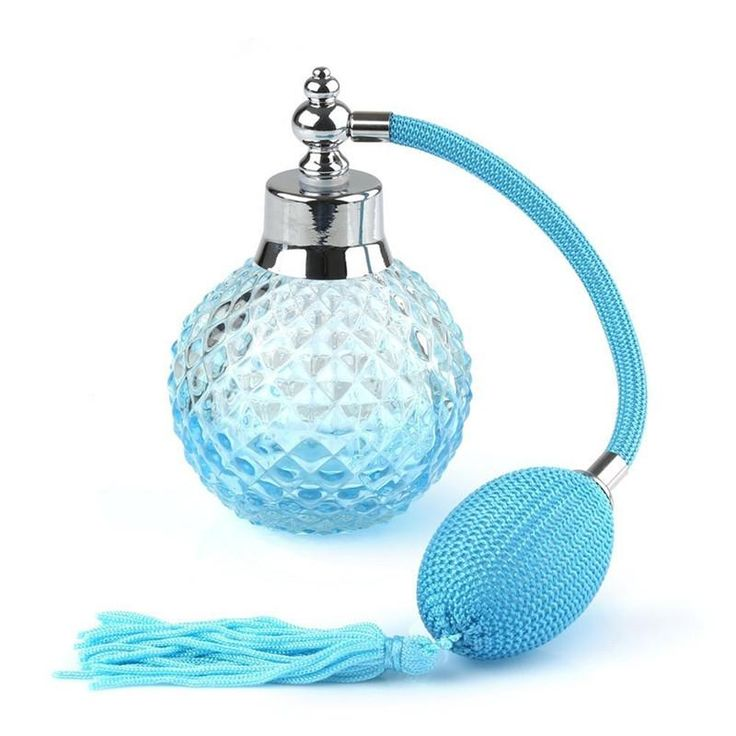 100ml Crystal Art Vintage Style Refillable Perfume Atomizer Long Spray Bottle
