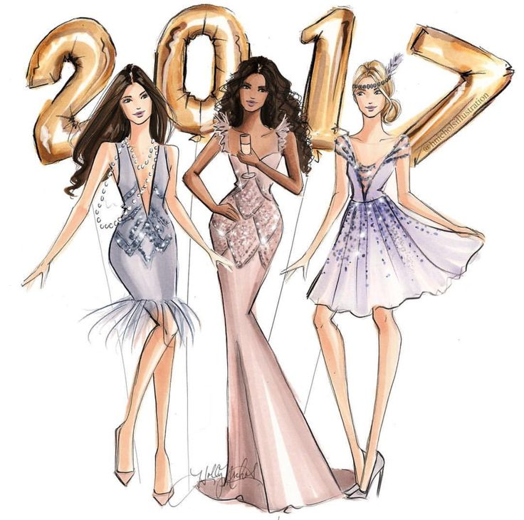 Welcoming #2017! Thank you to all my loyal followers! Wishing you all the best in 2017@hnicholsillustration/ hnillustration.etsy.com  Be Inspirational ❥ Mz. Manerz: Being well dressed is a beautiful form of confidence, happiness & politeness