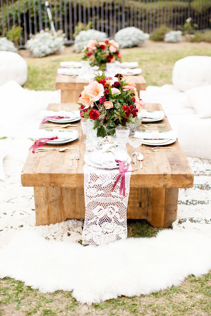 A Bohemian Backyard Bash In 2019 Tablescapes Decoration Ideas For