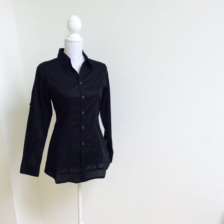 PHALLA III Black Tailored Shirt with Seam Detail