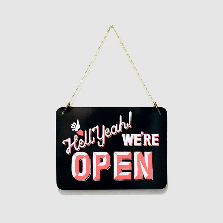 Or I could just paint our own fun versions -- Inspiration: Open / Closed Signs by Ray Masaki