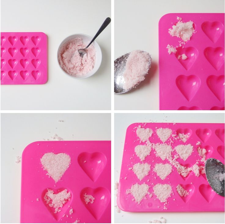 How to make your own diy heart sugar cubes