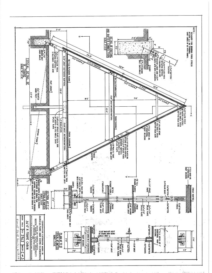 Small A Frame Cabin Plans With Loft