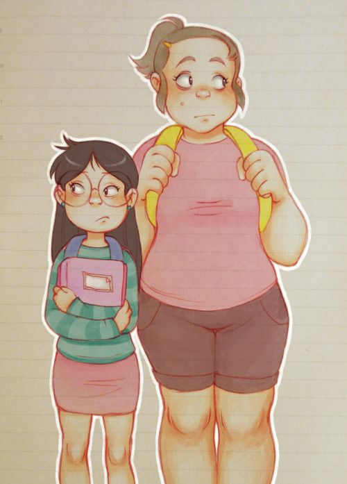 i think a lot about candy and grenda before they met mabel/going back to school without her… :\