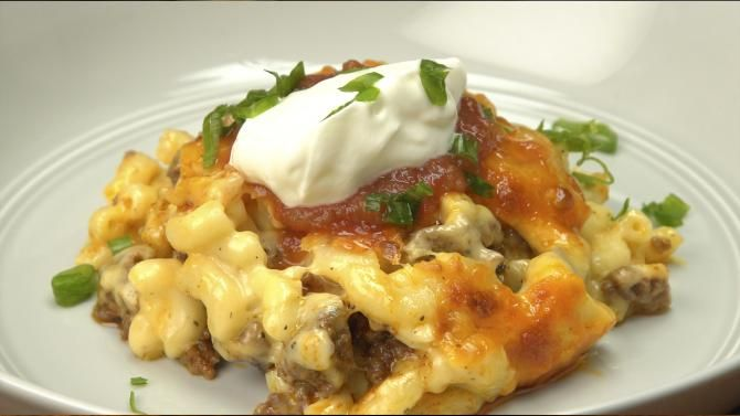 Get The Recipe: Baked Taco Mac And Cheese