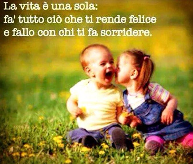 La vita e una sola,fa tutto cio' che ti rende felice e fallo con chi ti fa sorridere.