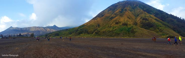 Walking in the sand of Bromo