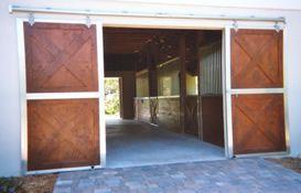 Crossbuck Not Split Sliding Doors