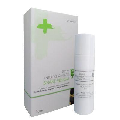 Serum de veneno de serpiente es un producto UNISEX, ideal para todo tipo de pieles especialmente indicada para pieles maduras, como base de maquillaje durante el día y de cómo tratamiento por la noche.