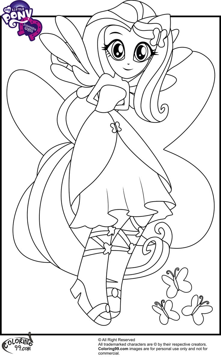 My Little Pony Equestria Coloring Pages