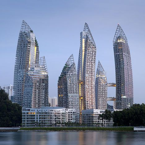 Libeskind, Keppel Bay Singapore.  One comment reads: I wish he'd just relax. I do agree.