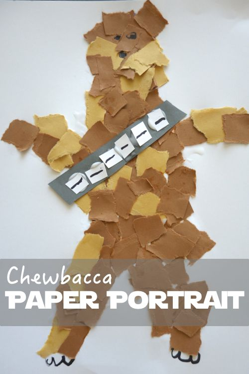 A Chewbacca Paper Portrait for Pint-Sized Padawans