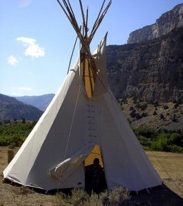 Great instructions on how to build a teepee!