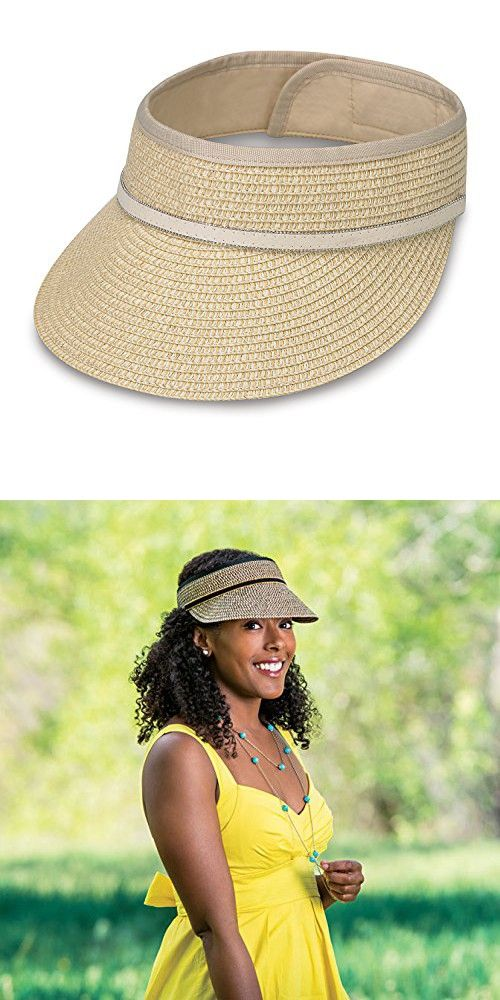 1d66b4a099f9f Wallaroo Hat Company Bianca Visor - Women s Hat - 100% Paper Braid in 2018