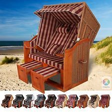 Superb Strandkorb USEDOM XXL Volllieger Ostsee Rattan Garten M bel cm EXTRA BREIT