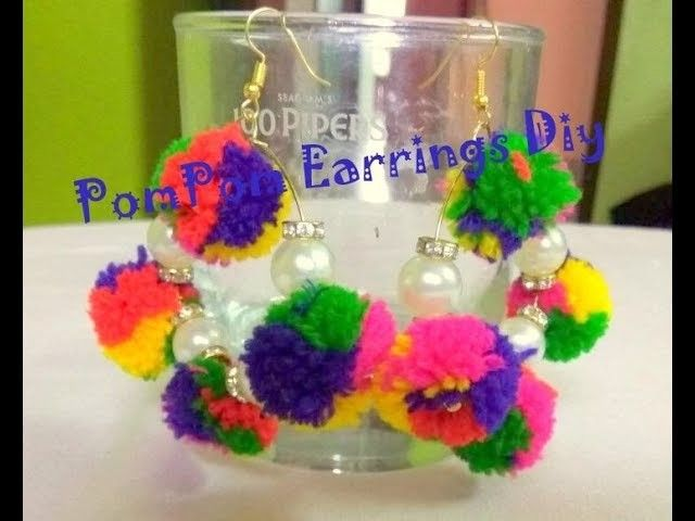 PomPom Earrings | DiY in Hindi | Video #1
