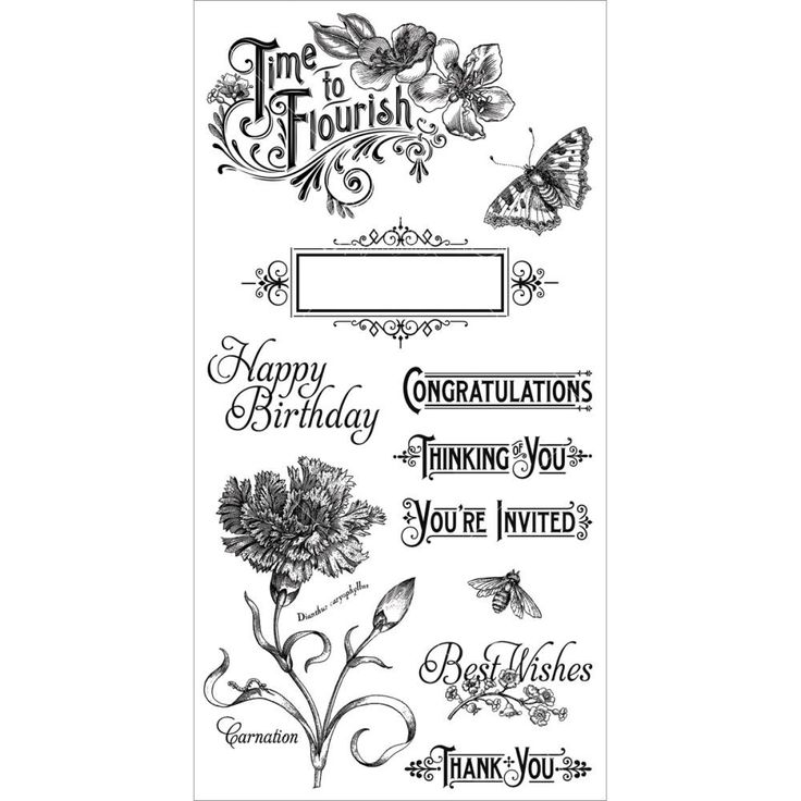 Cling Stamp Time to Flourish 1