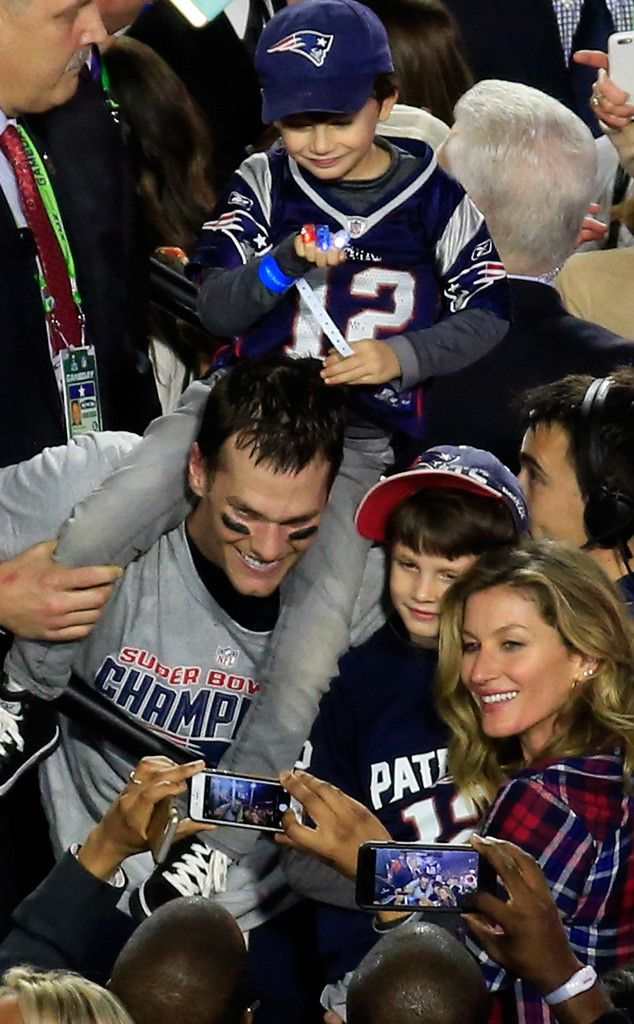 Tom Brady Celebrates Fourth Super Bowl Win With Gisele Bündchen and the Family—See the Adorable Photos! Tom Brady, Gisele Bundchen, Super Bowl XLIX