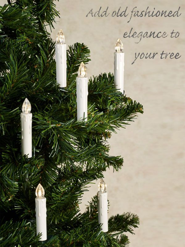 Clip On Led Lighted Taper Candle Set For Christmas Tree Christmas Tree Candles Christmas Candle Centerpiece Led Taper Candles
