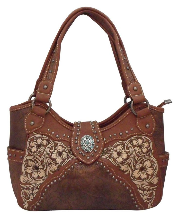 Montana West Concealed Carry Purse Western Gun Handbag Concealment Brown CCW NWT #MontanaWest #ShoulderBag