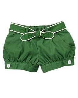 girls shorts with white piping belt from Gymboree