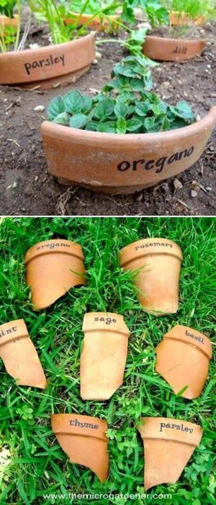 19 Cute and No-money Ideas to Label the Garden Plants