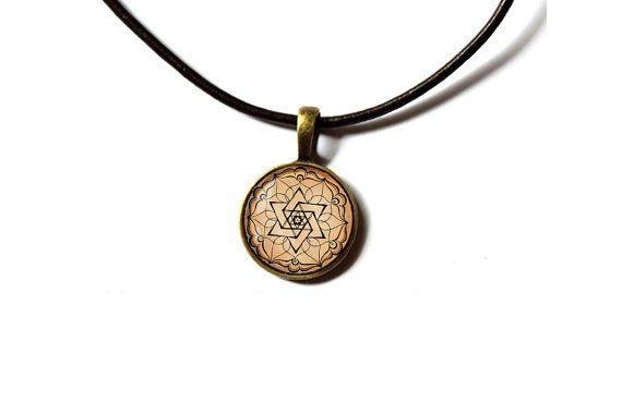 Sacred geometry jewelry Star of David Mandala by newwoodland, $12.00