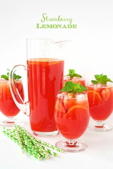 """Strawberry Lemonade - easy, homemade lemonade, from scratch. It''s super fresh, incredibly delicious and truly the """"essence"""" of summer!"""