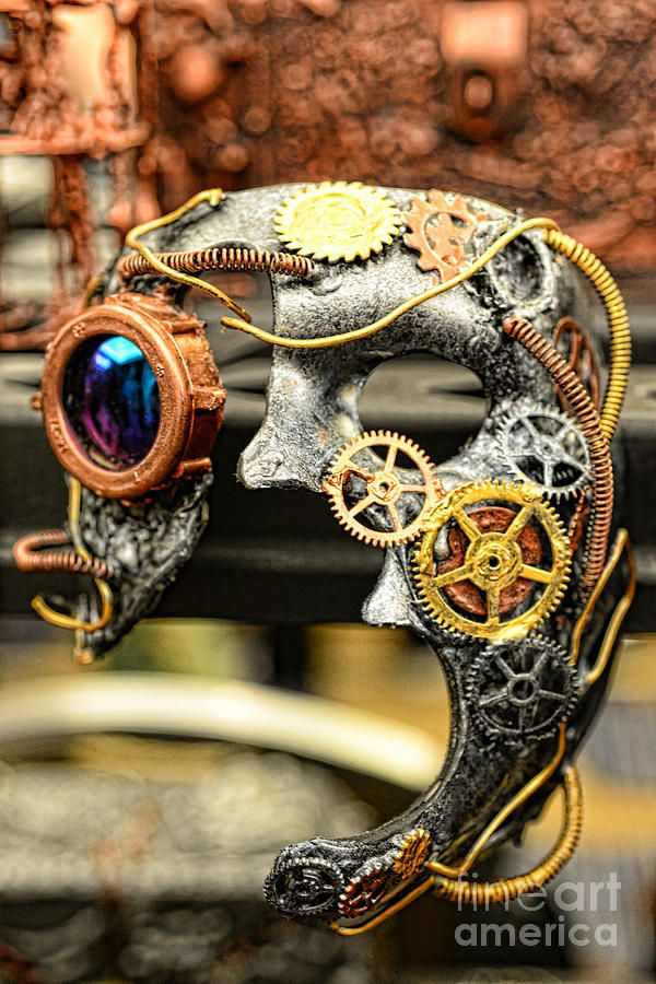 Steampunk - The mask Photograph  - Steampunk - The mask Fine Art Print