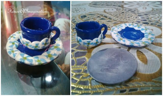 House Of Imaginations: Polymer cup n plate