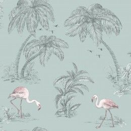 Holden Decor Flamingo Lake wallpaper 12381