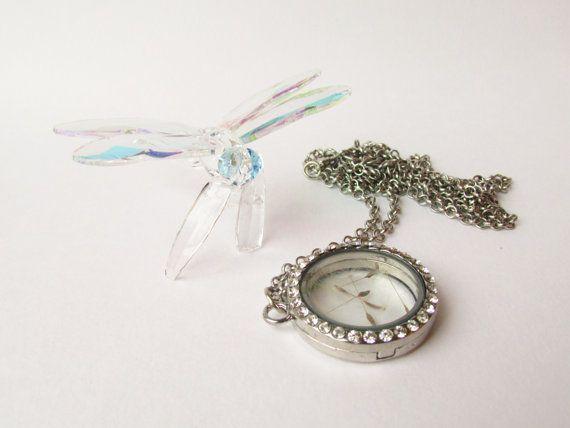 Universal Wish Silver diamante vintage style by DelabudCreations