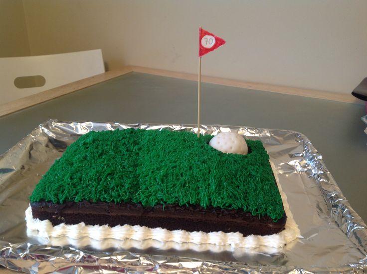 golf cake with cake pop golf ball