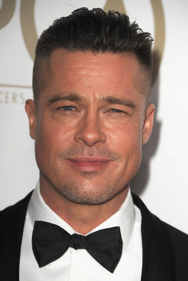 """""""OK, mom. Geez."""" - Brad Pitt, probably.   A Comprehensive History Of Brad Pitt's Hair"""