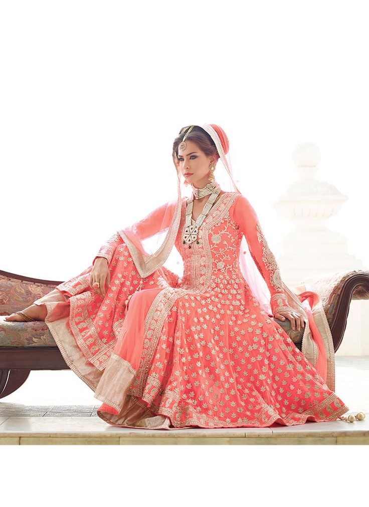 very decent :) & it reminds me of the color we were looking for today :D Exhilarating Zari Embroidered Anarkali Suit