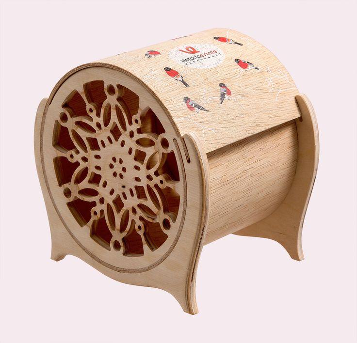 Деревянная шкатулка СНЕГИРИ, деревянная коробка для конфет, уф печать на дереве, сувенир с логотипом