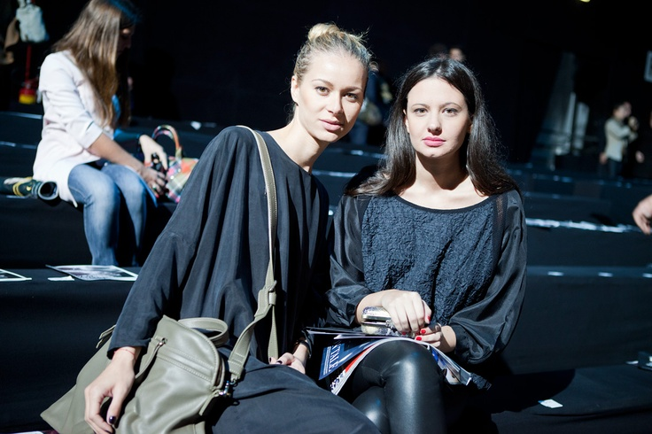 Vlieger & Vandam bag and Tusnelda bloch blouse at Dsquared2 fashion show