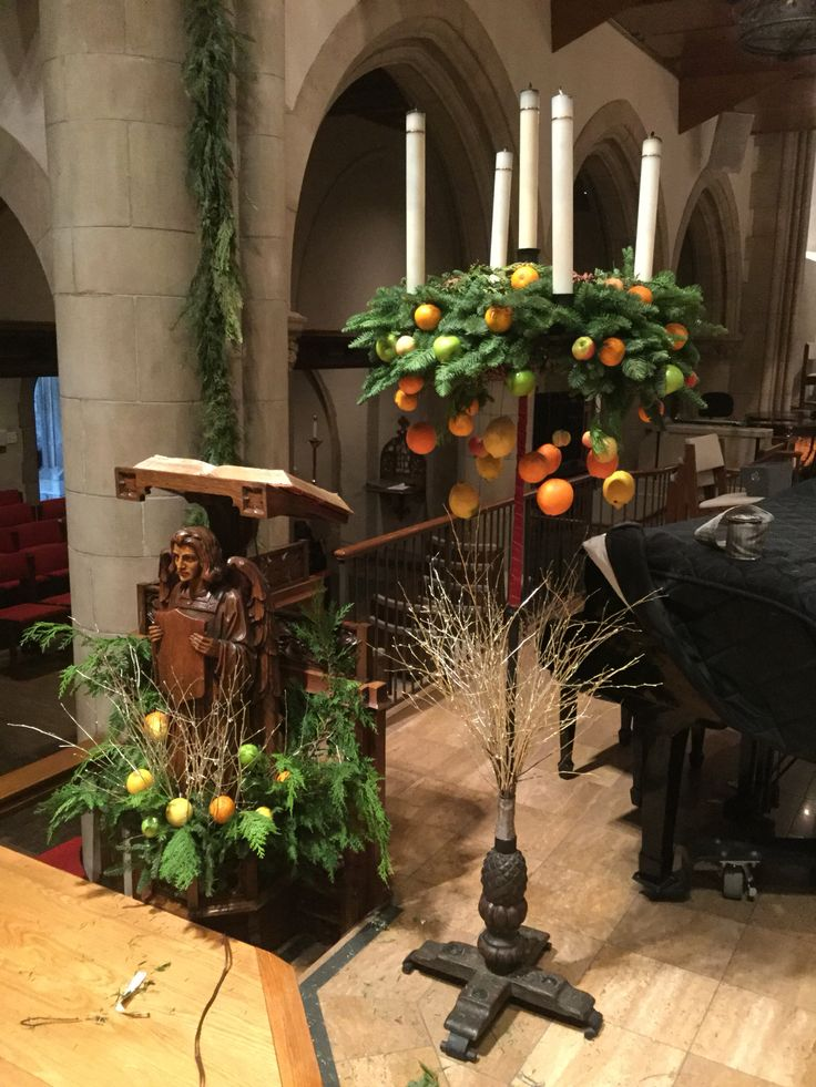Advent wreath stand and lectern 2015 church flowers all - Pinterest advent ...