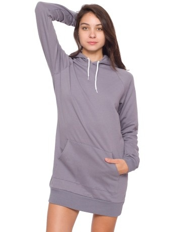 American Apparel's version of the sweatshirt dress. California Fleece (100% cotton)