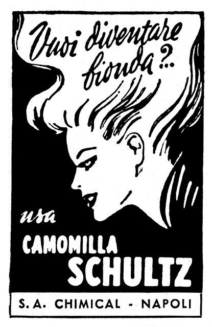 Vuoi diventare bionda?.. Da 'Mani di Fata' (10-1954). Caricato con Flock