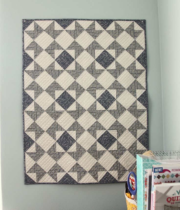 Star quilt using Shimmer fabric from Jennifer Sampou